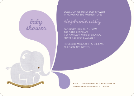 throw a green baby shower  encore second hand baby registry, Baby shower invitation